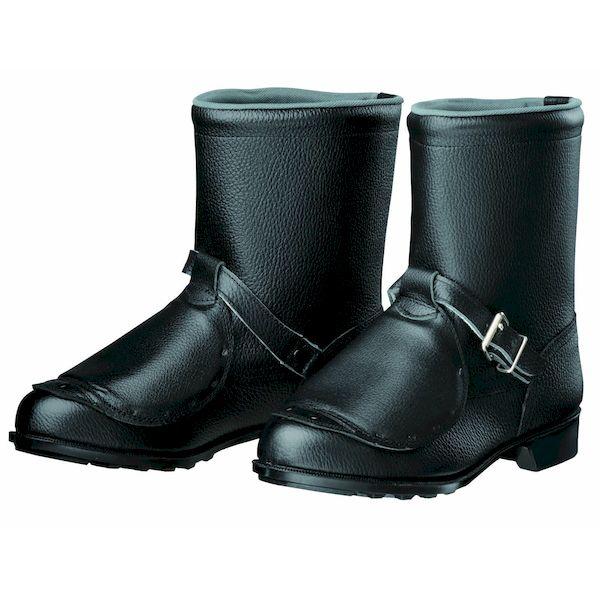 【個数:1個】ディアドラ DIADORA 4979058397478 直送 代引不可・他メーカー同梱不可 安全靴 半長靴 甲プロ ラバー1層底 耐滑 606甲プロ ブラック 25.5
