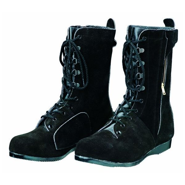 【個数:1個】ディアドラ DIADORA 4979058505187 直送 代引不可・他メーカー同梱不可 安全靴 長編上ブーツ 高所・構内用 ラバー1層底 耐熱 T-7 ブラック 25.0