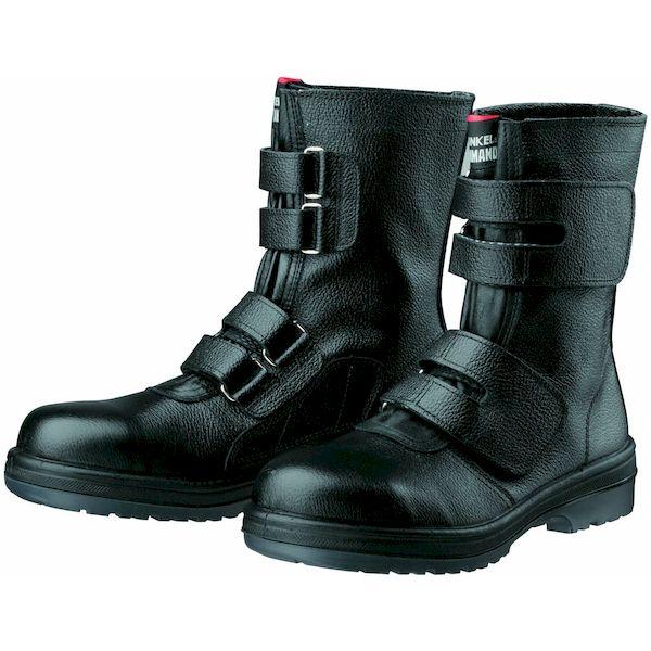 【個数:1個】ディアドラ DIADORA 4979058780607 直送 代引不可・他メーカー同梱不可 安全靴 ワークブーツ マジック式 ラバー2層底 耐滑 R2-54 ブラック 27.5