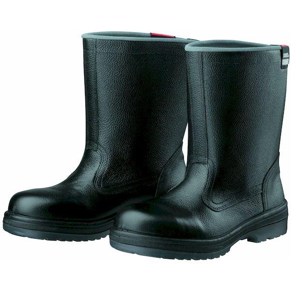 【個数:1個】ディアドラ DIADORA 4979058780652 直送 代引不可・他メーカー同梱不可 安全靴 半長靴 ラバー2層底 耐滑 R2-06 ブラック 25.0
