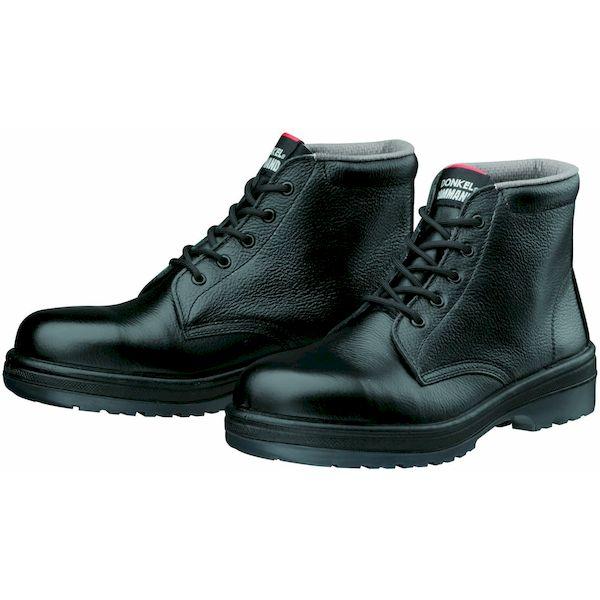 【個数:1個】ディアドラ DIADORA 4979058786074 直送 代引不可・他メーカー同梱不可 安全靴 ヒモ ラバー2層底 耐滑 ミドルカット R2-03 ブラック 29.0