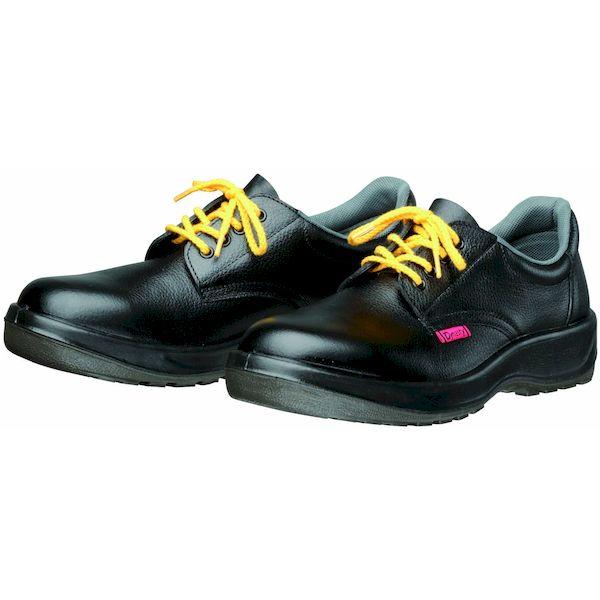 【個数:1個】ディアドラ DIADORA 4979058804433 直送 代引不可・他メーカー同梱不可 静電安全靴 ヒモ PU二層底 耐滑 衝撃吸収 D7001静電 ブラック 29.0