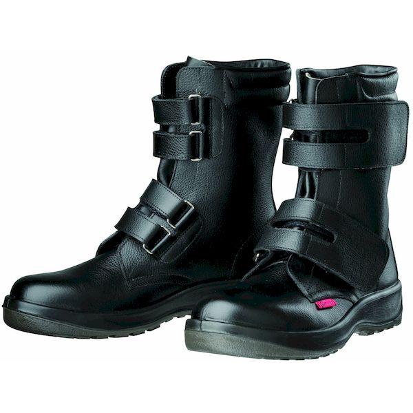 【個数:1個】ディアドラ DIADORA 4979058804952 直送 代引不可・他メーカー同梱不可 Dynasty 安全靴 ワークブーツ マジック PU二層底 耐滑 衝撃吸収 D7054 ブラック 24.5