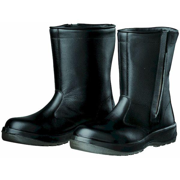 【個数:1個】ディアドラ DIADORA 4979058805089 直送 代引不可・他メーカー同梱不可 Dynasty 安全靴 半長靴 ファスナー付 PU二層底 耐滑 衝撃吸収 D7006 ブラック 25.0