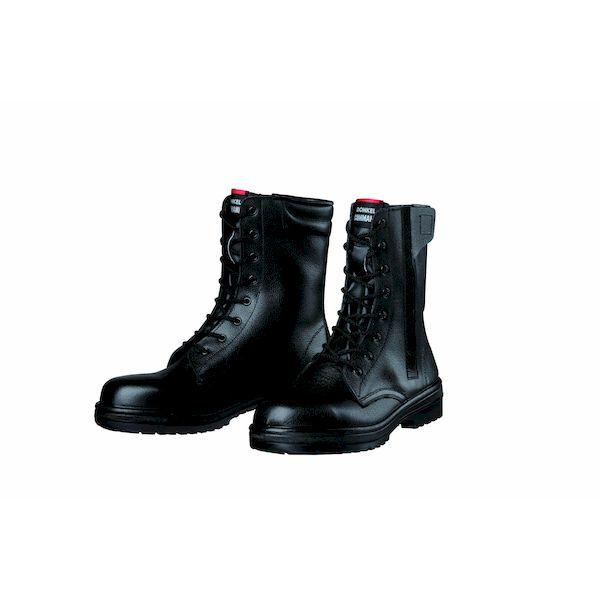 【個数:1個】ディアドラ DIADORA 4979058826268 直送 代引不可・他メーカー同梱不可 安全靴 長編上ブーツ ラバー2層底 耐滑 R2-04T ブラック 23.5