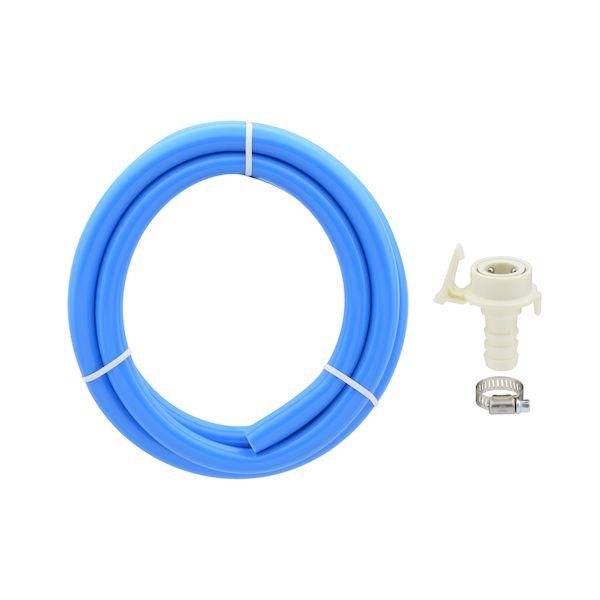 カクダイ GA-LC034 ガオナ 二槽式洗濯機用 お中元 商い 給水ホース 2.0m ワンタッチ給水ジョイントセット ブルー 抜け防止 長さ調節可能 バンド付き GALC034 GAONA