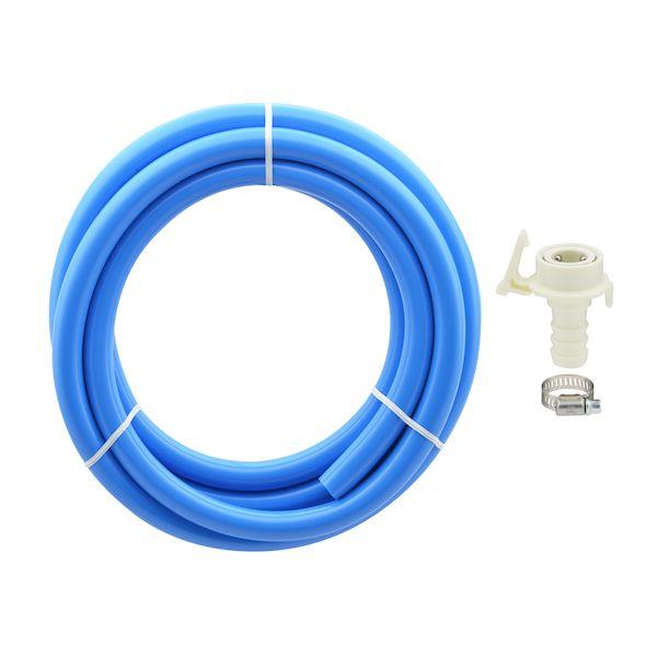 再再販 カクダイ GA-LC035 ガオナ 二槽式洗濯機用 給水ホース 上品 3.0m ワンタッチ給水ジョイントセット バンド付き GALC035 ブルー 長さ調節可能 抜け防止 GAONA