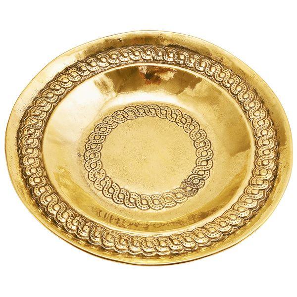 ゴーリキアイランド 660997 真鍮製飾り皿 金色 7586型 真鍮 アンティーク レトロ 北欧 ヨーロッパ 雑貨