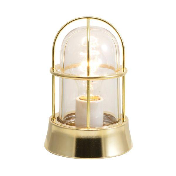 ゴーリキアイランド 700121 真鍮製マリンランプ クリアガラス&普通球 BH1000 CL 金色 ポーチライト アンティーク レトロ