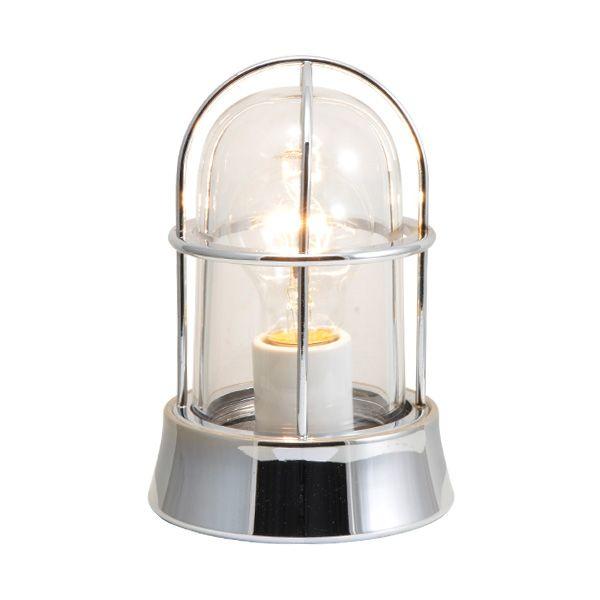 ゴーリキアイランド 700123 真鍮製マリンランプ クリアガラス&普通球 BH1000 CL 銀色 ポーチライト アンティーク レトロ