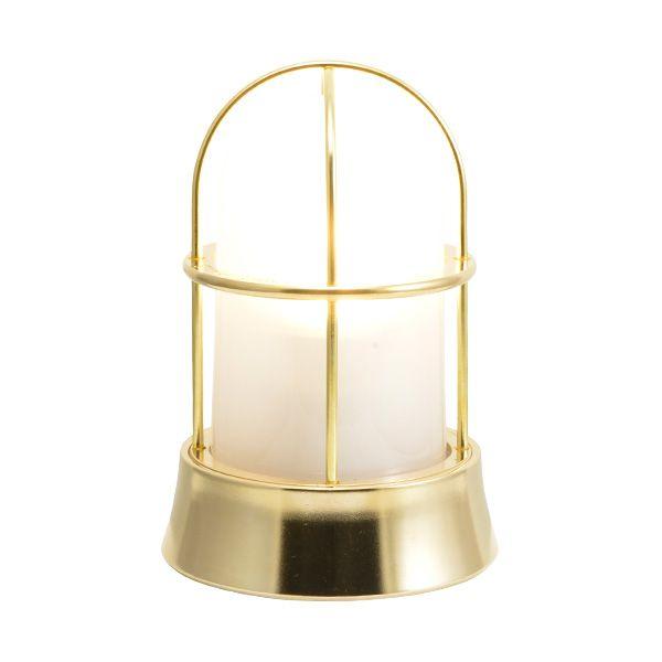 ゴーリキアイランド 700130 真鍮製マリンランプ くもりガラス&LEDランプ BH1000 FR LE 金色 ポーチライト アンティーク レトロ