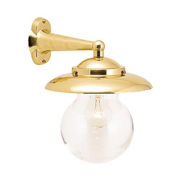 ゴーリキアイランド 700166 真鍮製ブラケットランプ クリアガラス&普通球 BR2071 CL 金色 ポーチライト アンティーク レトロ