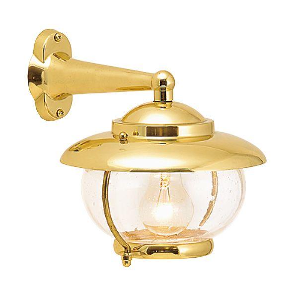 ゴーリキアイランド 700173 真鍮製ブラケットランプ 泡入りガラス&普通球 BR2118 BU 金色 ポーチライト アンティーク レトロ