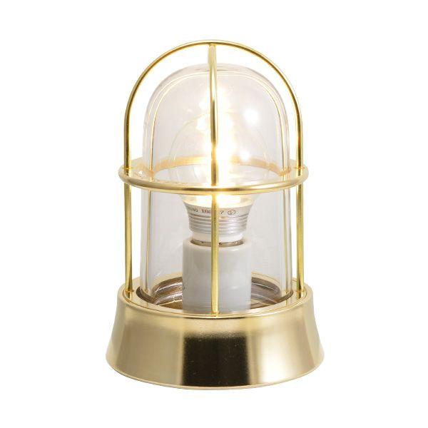 ゴーリキアイランド 700201 真鍮製マリンランプ クリアガラス&LEDランプ BH1000 CL LE 金色 ポーチライト アンティーク レトロ