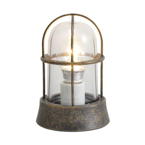 ゴーリキアイランド 700203 真鍮製マリンランプ クリアガラス&LEDランプ BH1000 CL LE 古色 ポーチライト アンティーク レトロ