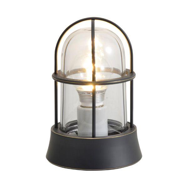 ゴーリキアイランド 700206 真鍮製マリンランプ クリアガラス&LEDランプ BH1000 CL LE 黒色 ポーチライト アンティーク レトロ