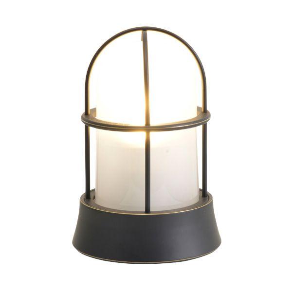 ゴーリキアイランド 700207 真鍮製マリンランプ くもりガラス&LEDランプ BH1000 FR LE 黒色 ポーチライト アンティーク レトロ