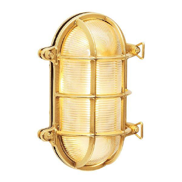 ゴーリキアイランド 700220 真鍮製ウォールライト クリアガラス&LEDランプ BH2035 CL LE 金色 真鍮 エクステリア ポーチライト アンティーク