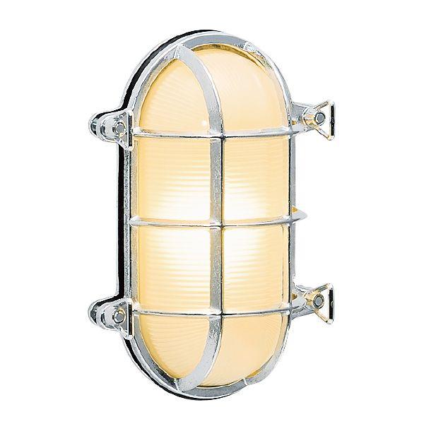 ゴーリキアイランド 700221 真鍮製ウォールライト クリアガラス&LEDランプ BH2035 CL LE 銀色 真鍮 エクステリア ポーチライト アンティーク