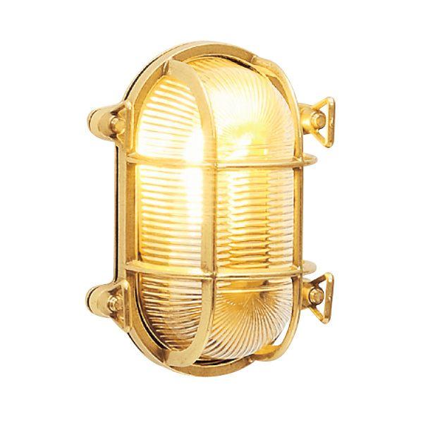 ゴーリキアイランド 700222 真鍮製ウォールライト クリアガラス&LEDランプ BH2036 CL LE 金色 真鍮 エクステリア ポーチライト アンティーク