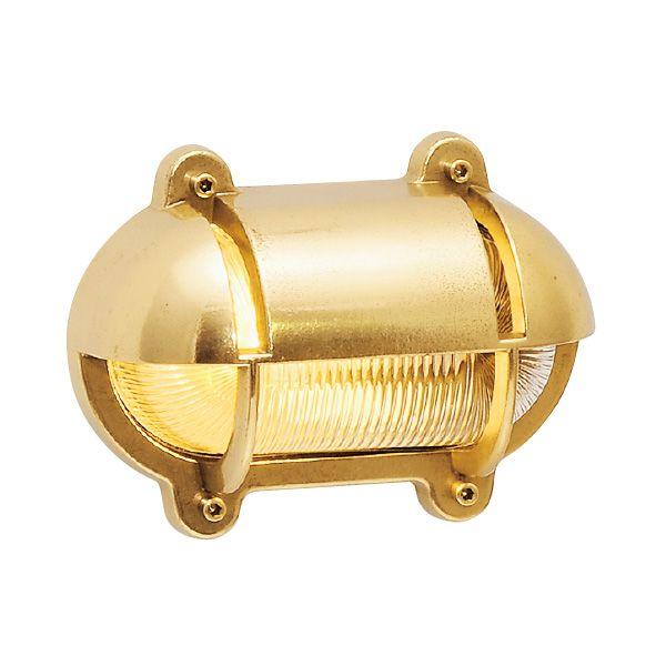 ゴーリキアイランド 700226 真鍮製ウォールライト クリアガラス&LEDランプ BH2436 CL LE 金色 真鍮 エクステリア ポーチライト アンティーク