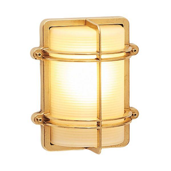 ゴーリキアイランド 700229 真鍮製ウォールライト くもりガラス&LEDランプ BH2373 FR LE 金色 真鍮 エクステリア ポーチライト アンティーク