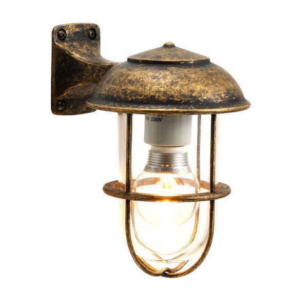 ゴーリキアイランド 700238 真鍮製ブラケットランプ クリアガラス&LEDランプ BR5000 CL LE 古色 ポーチライト アンティーク レトロ