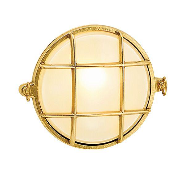 ゴーリキアイランド 700307 真鍮製ウォールライト くもりガラス&LEDランプ BH2028B FR LE 金色 真鍮 エクステリア ポーチライト アンティーク