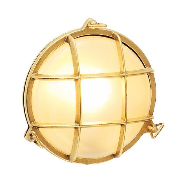 ゴーリキアイランド 700308 真鍮製ウォールライト くもりガラス&LEDランプ BH2028 FR LE 金色 真鍮 エクステリア ポーチライト アンティーク