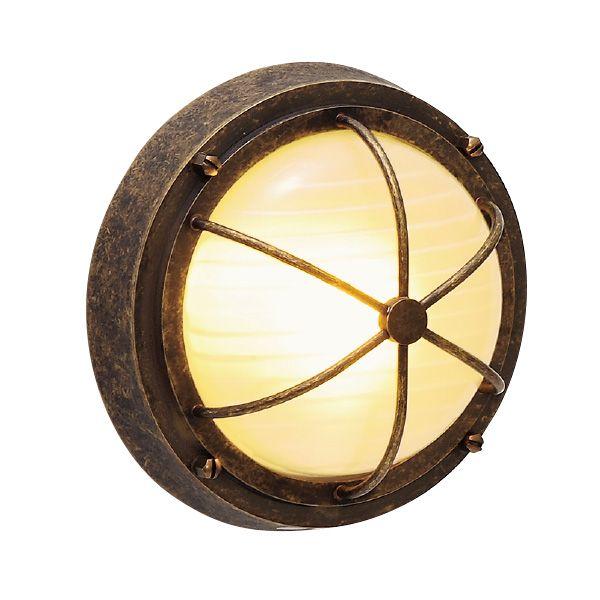 ゴーリキアイランド 700326 真鍮製ウォールライト くもりガラス&LEDランプ BH3000 FR LE 古色 真鍮 エクステリア ポーチライト アンティーク