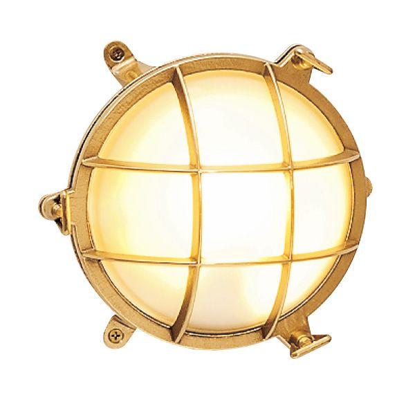 ゴーリキアイランド 700327 真鍮製ウォールライト くもりガラス&LEDランプ BH2030 FR LE 金色 真鍮 エクステリア ポーチライト アンティーク
