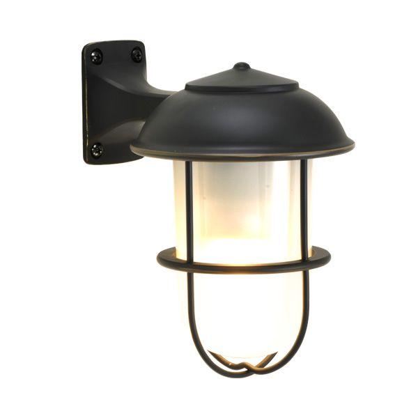 ゴーリキアイランド 700354 真鍮製ブラケットランプ くもりガラス&LEDランプ BR5000 FR LE 黒色 ポーチライト アンティーク レトロ