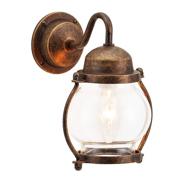 ゴーリキアイランド 700451 真鍮製ブラケットランプ クリアガラス&普通球 BR1700 CL 古色 ポーチライト アンティーク レトロ