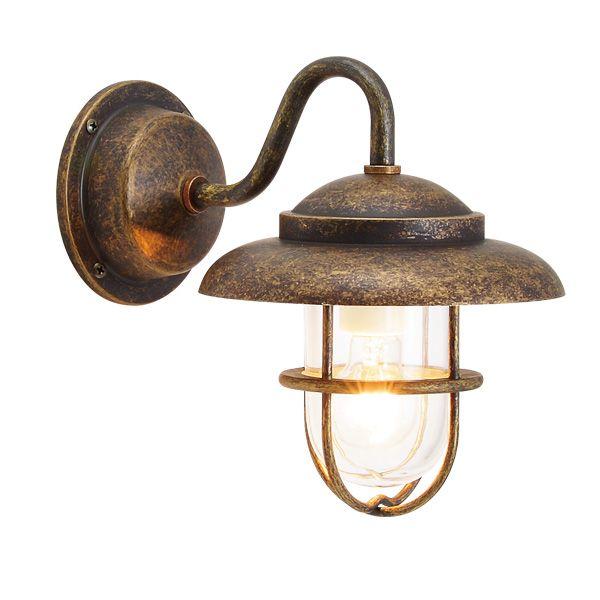 ゴーリキアイランド 700458 真鍮製ブラケットランプ クリアガラス&普通球 BR1760 CL 古色 ポーチライト アンティーク レトロ
