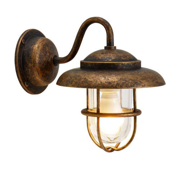 ゴーリキアイランド 700459 真鍮製ブラケットランプ クリアガラス&LEDランプ BR1760 CL LE 古色 ポーチライト アンティーク レトロ