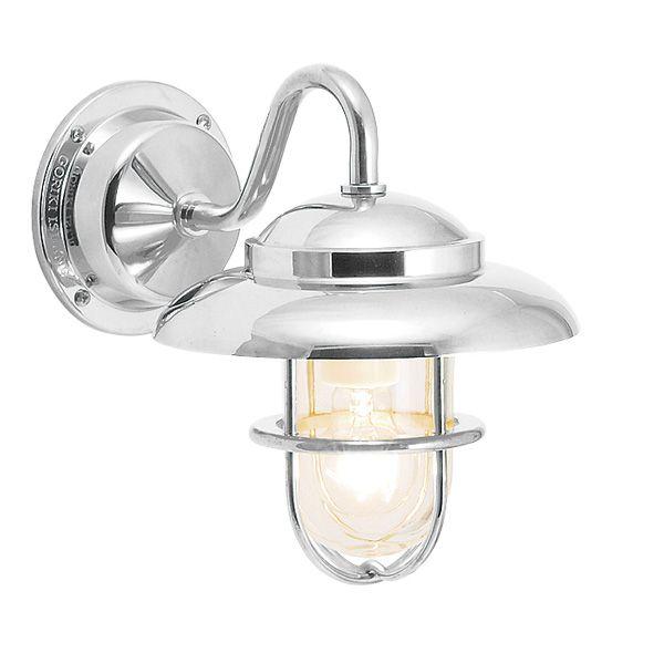 ゴーリキアイランド 700462 真鍮製ブラケットランプ クリアガラス&普通球 BR1760 CL 銀色 ポーチライト アンティーク レトロ