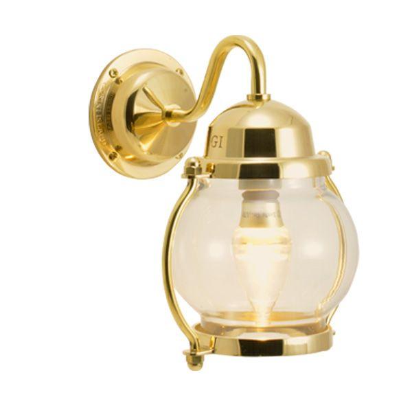 ゴーリキアイランド 700470 真鍮製ブラケットランプ クリアガラス&LED BR1700 CL LE 金色 ポーチライト アンティーク レトロ