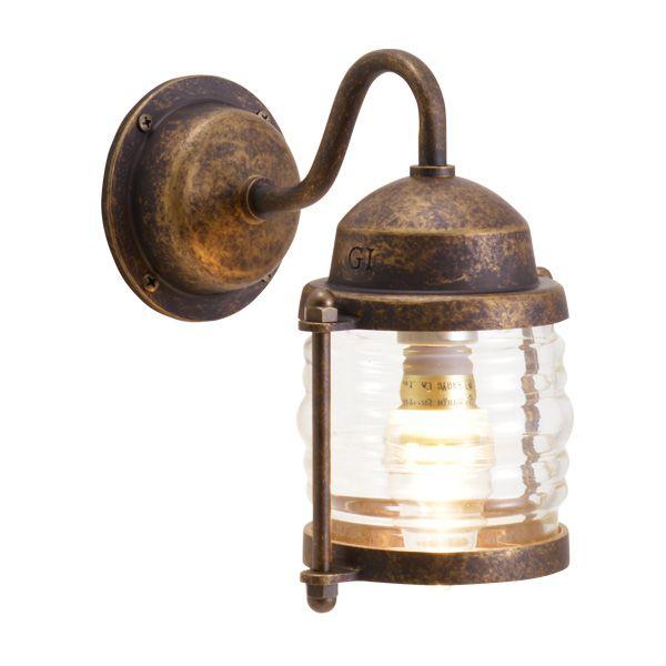 ゴーリキアイランド 700473 真鍮製ブラケットランプ クリアガラス&LEDランプ BR1710 CL LE 古色 ポーチライト アンティーク レトロ