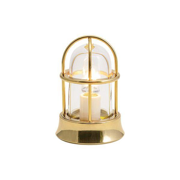 ゴーリキアイランド 700522 真鍮製マリンランプ クリアガラス&LEDランプ BH1000MINI CL LE 金色 ポーチライト アンティーク レトロ