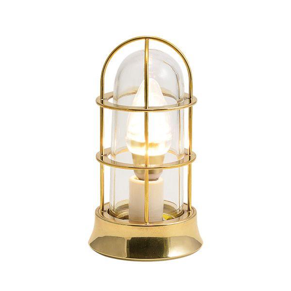 ゴーリキアイランド 700542 真鍮製マリンランプ クリアガラス&LEDランプ BH1000SLIM CL LE 金色 ポーチライト アンティーク レトロ