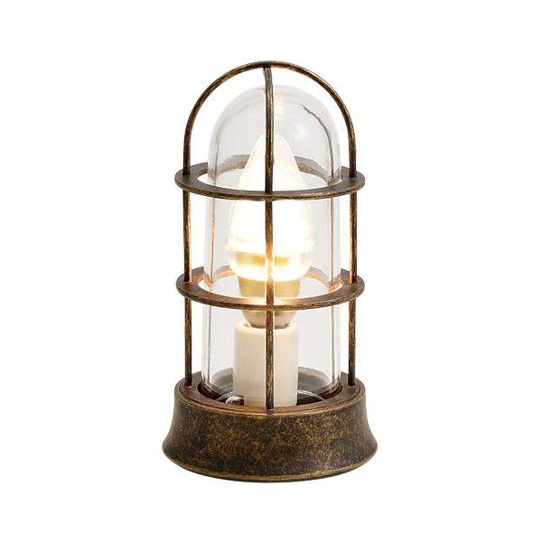 ゴーリキアイランド 700546 真鍮製マリンランプ クリアガラス&LEDランプ BH1000SLIM CL LE 古色 ポーチライト アンティーク レトロ