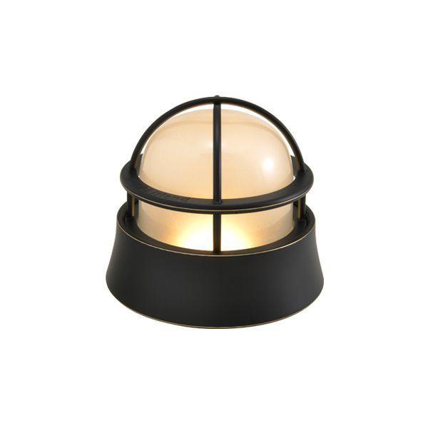 ゴーリキアイランド 700582 真鍮製マリンランプ くもりガラス&LEDランプ BH1000LOW FR LE 黒色 ポーチライト アンティーク レトロ