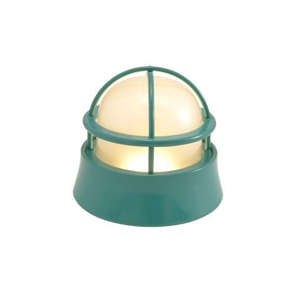ゴーリキアイランド 700584 真鍮製マリンランプ くもりガラス&LEDランプ BH1000LOW FR LE メイグリーン ポーチライト アンティーク レトロ
