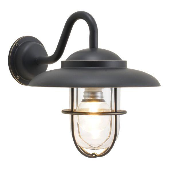 ゴーリキアイランド 700682 真鍮製ブラケットランプ クリアガラス&LEDランプ BR5060 CL LE 黒色 ポーチライト アンティーク レトロ