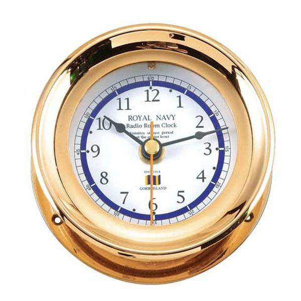 ゴーリキアイランド 710052 真鍮製マリンクロック 金色 ES NAVYタイプ 真鍮 時計 雑貨 アンティーク レトロ 北欧 船舶時計