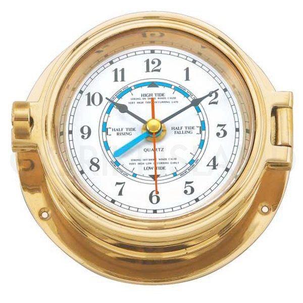 ゴーリキアイランド 710201 真鍮製マリンクロック 金色 Mタイプ 真鍮 時計 雑貨 アンティーク レトロ 北欧 船舶時計
