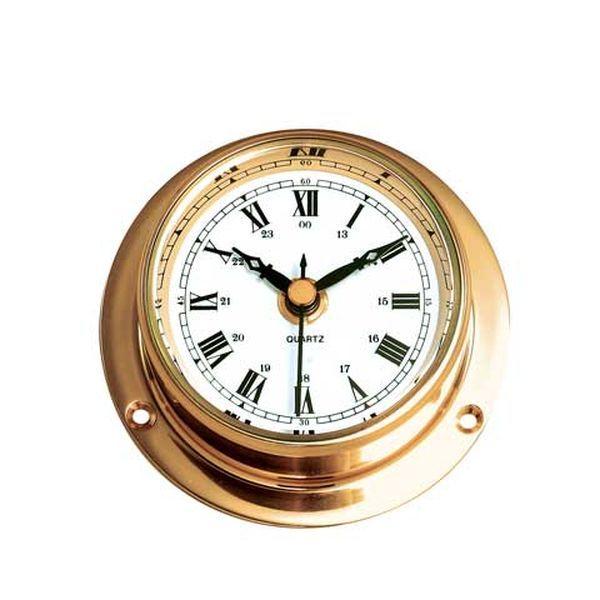 ゴーリキアイランド 710213 真鍮製マリンクロック 金色 Sタイプ 真鍮 時計 雑貨 アンティーク レトロ 北欧 船舶時計