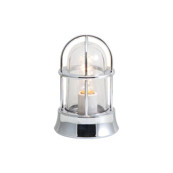 ゴーリキアイランド 750016 真鍮製マリンランプ クリアガラス&普通球 BH1000MINI CL 銀色 ポーチライト アンティーク レトロ