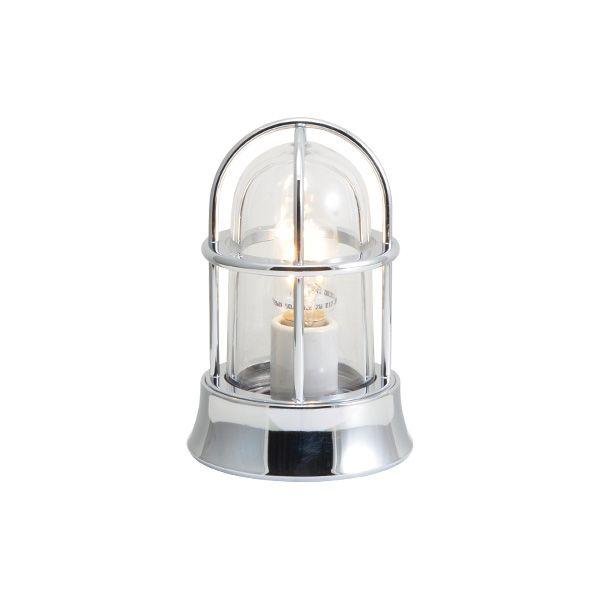 ゴーリキアイランド 750022 真鍮製マリンランプ クリアガラス&LEDランプ BH1000MINI CL LE 銀色 ポーチライト アンティーク レトロ