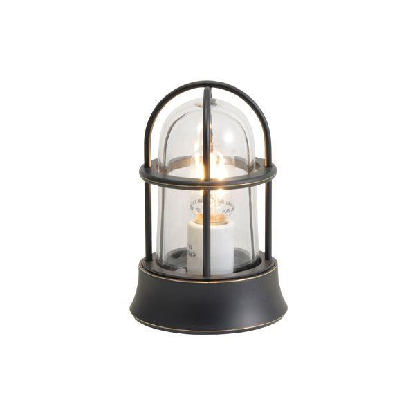 ゴーリキアイランド 750023 真鍮製マリンランプ クリアガラス&LEDランプ BH1000MINI CL LE 黒色 ポーチライト アンティーク レトロ